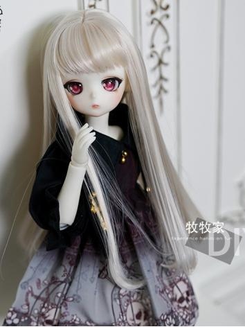 BJD Wig Girl Light Gold  Lo...