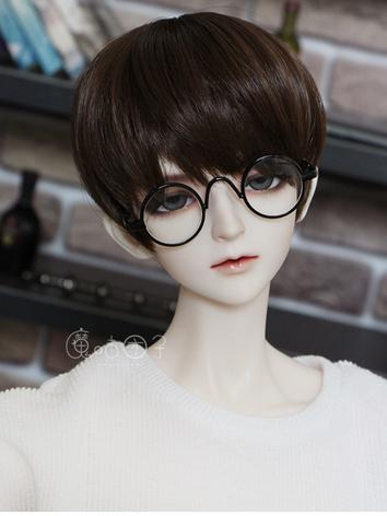 BJD Black Round Glasses for SD/70cm Ball-jointed doll
