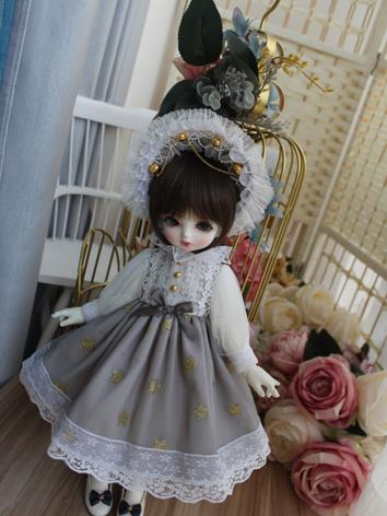 BJD Clothes Girl Gray  Dres...