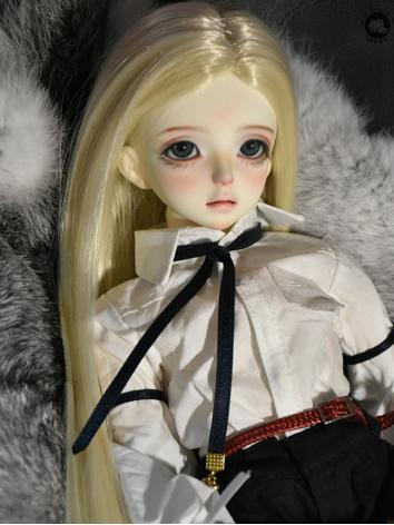 BJD Wig Girl White/Light Go...