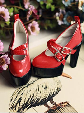 1/3 Shoes Girl Red High-hee...