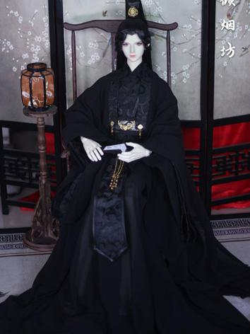 BJD Clothes Boy Black Ancient Outfit Set for LS68/DK72/SD size Ball-jointed Doll