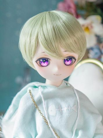 BJD Wig Girl Gold Short Hair for SD/MSD/YOSD Size Ball-jointed Doll