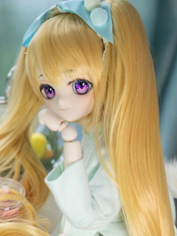 BJD Wig Girl Gold Long Hair for SD Size Ball-jointed Doll