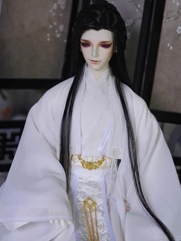 BJD Clothes Boy White Ancient Outfit Set for LS68/DK72/SD size Ball-jointed Doll
