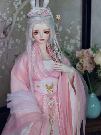 BJD Clothes Girl Pink Ancient Outfit Set for 58cm/63cm Girl Size Ball-jointed Doll Baihua,Suyu