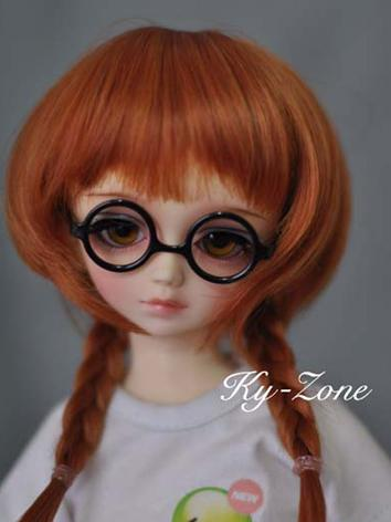 BJD Black Round Glasses for...