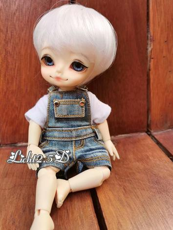 BJD Wig Girl/Boy Milk White...