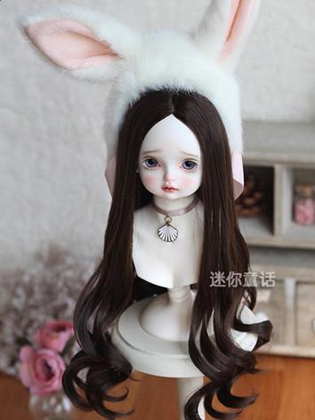 Girl Dark Brown Hair  1/4 1/6 Wig for MSD/YSD Size Ball-jointed Doll