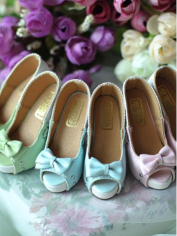 BJD 1/3 Shoes Girl Blue/Green/Pink Highheels Shoes for SD Size Ball-jointed Doll