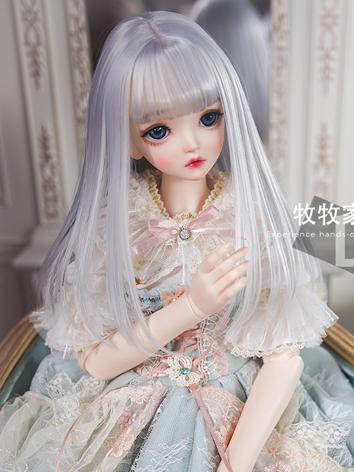 BJD Wig Girl Gray Hair Wig ...