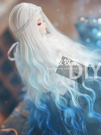 BJD Wig Girl  Blue/Purple H...