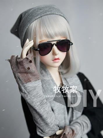 BJD Wig Girl Gray Hair Wig for SD/MSD/YOSD Size Ball-jointed Doll