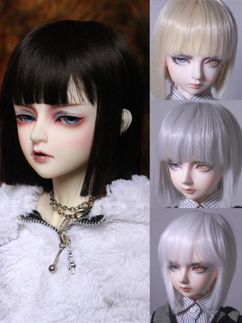BJD Wig Girl Blue/Gray/Gold...