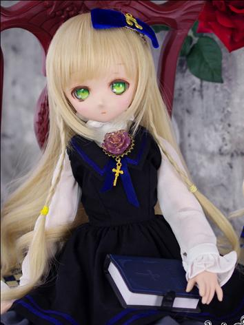 BJD Clothes MSD/MDD Girl Blue Dress Suit for Ball-jointed Doll