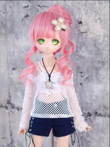 BJD Clothes MSD/MDD Girl White/Black Casual Set for Ball-jointed Doll