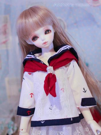 Bjd Clothes Girl Blue Sailor Coat 1/4 for MSD Ball-jointed Doll