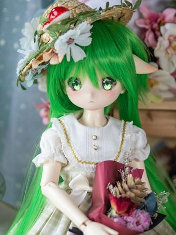 BJD Wig Girl Grass Green Lo...
