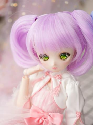 BJD Wig Girl Blue/Purple Short Hair for SD Size Ball-jointed Doll