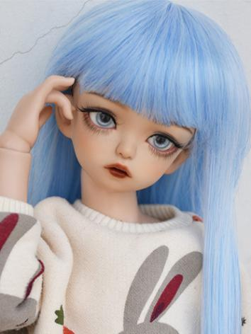BJD Wig Blue Long Straight ...