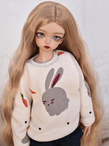 BJD Girl Wig Brown Long Cur...