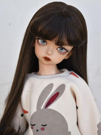 BJD Girl Wig Dark Brown Lon...