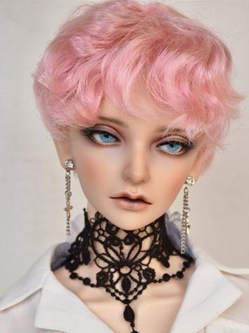 BJD Boy Wig Pink/Black Short Hair Wig for SD/MSD Size Ball-jointed Doll