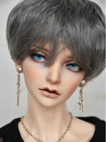 BJD Boy Wig Brown/Gray Short Hair Wig for SD/MSD/YOSD Size Ball-jointed Doll