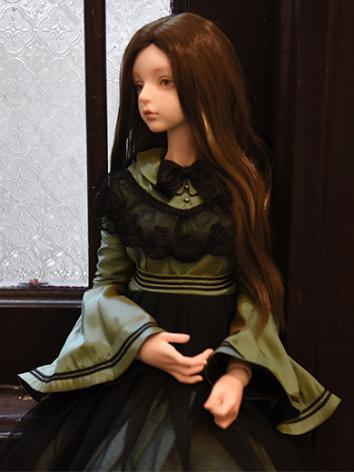 BJD Girl Wig Brown/Golden L...