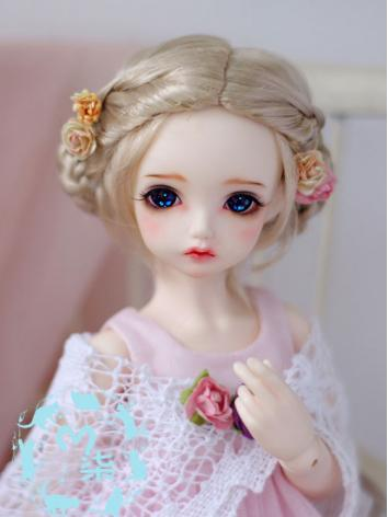 1/4 1/6 Girl Wig Golden Hai...