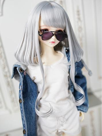 BJD Wig Girl Gray/Golden/Bl...