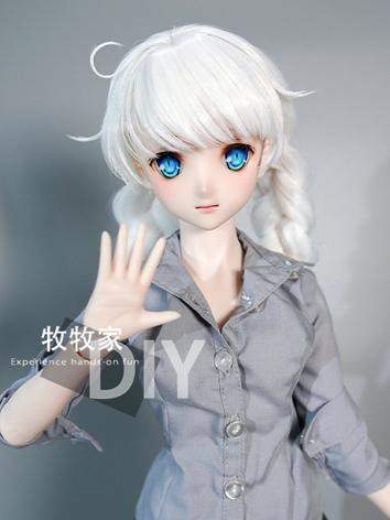 BJD Wig Girl Gray Hair Wig for SD Size Ball-jointed Doll