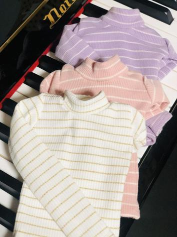 1/3 1/4 Clothes Blue/Green/White/Purple Stripe High neck T-shirt for SD/DD/MSD Size Ball-jointed Doll