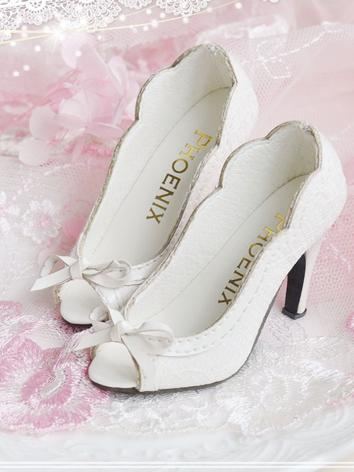 BJD 1/3 Shoes Girl White Highheels for SD Ball-jointed Doll