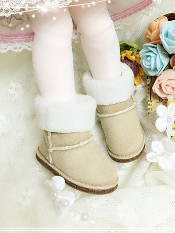 BJD 1/3 1/4 1/6 Shoes Girl/Boy Gray/Khaki/White/Pink/Red/Black Winter Snow Boot for SD/MSD/YOSD size Ball-jointed Doll