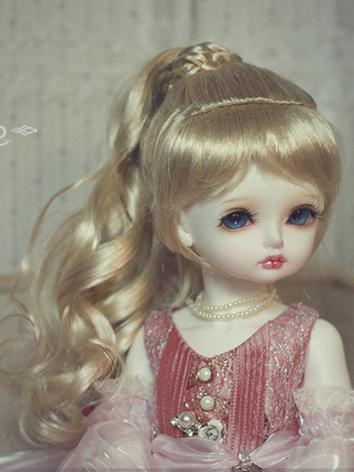 BJD Wig Girl Golden/Brown L...