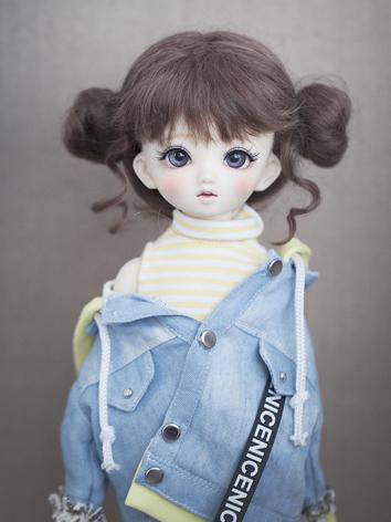 BJD Wig Girl Flaxen/Brown H...