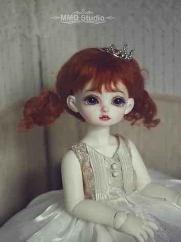 BJD Wig Girl Brownness Curl...