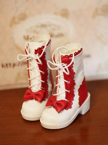 BJD 1/3 1/4 Shoes Girl/Boy White/Pink/Red/Black Boots for SD/MSD size Ball-jointed Doll