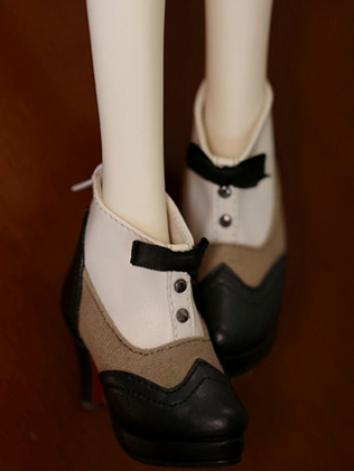 Bjd 1/3 Girl/Female Red&Brown/Black&Brown High-heel Shoes for SD size Ball-jointed Doll