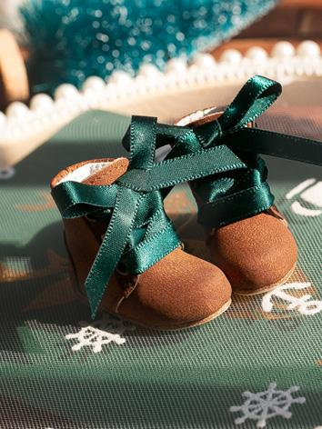 Bjd 1/6 Girl/Female Gray/Brown/Blue/Green Short Boots Shoes for YOSD size Ball-jointed Doll