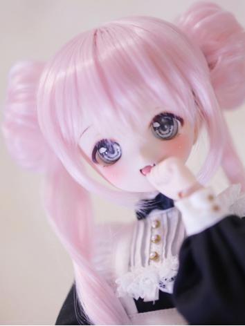BJD Wig Girl Pink Hair for ...