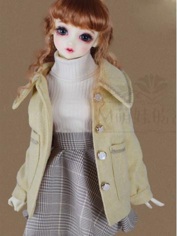 BJD Clothes Girl Suit Outercoat Sweater Skirt for SD/DD Size Ball-jointed Doll