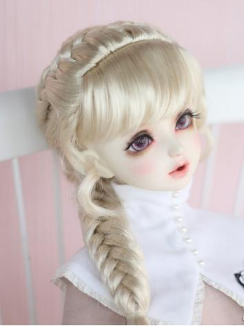 BJD 1/3 Wig Girl Gold Long ...