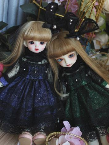 BJD Clothes Girl Purple/Blu...