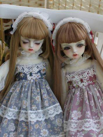 BJD Clothes Girl Wine/Blue ...