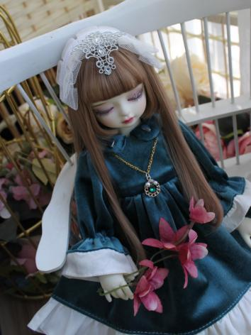 BJD Clothes Girl Blue Western Style Dress for SD/MSD/YOSD/Blythe Size Ball-jointed Doll