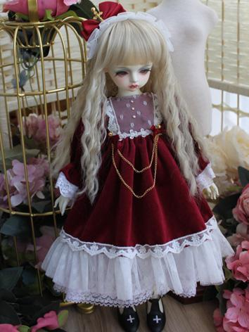 BJD Clothes Girl Wine Weste...