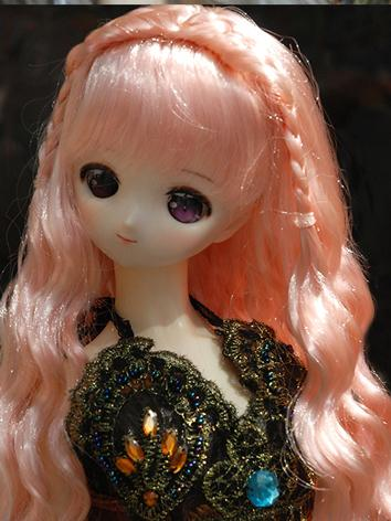 BJD Wig Girl Grey/Pink/Ligh...