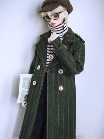 BJD Outfit 1/3 POPO68cm 70cm Green Strip Boy/Girl Clothes Outer Coat A294 for SD/POPO68cm/70cm Size Ball-jointed Doll